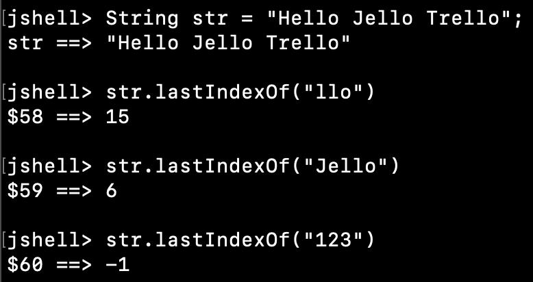 Java String LastIndexOf Substring Examples