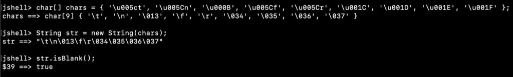 Java String IsBlank Example
