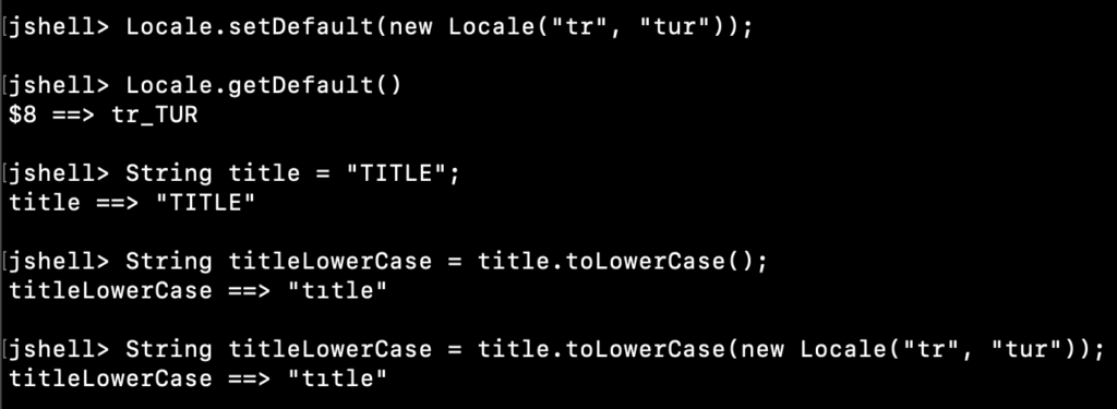 Java String ToLowerCase Example With Locale