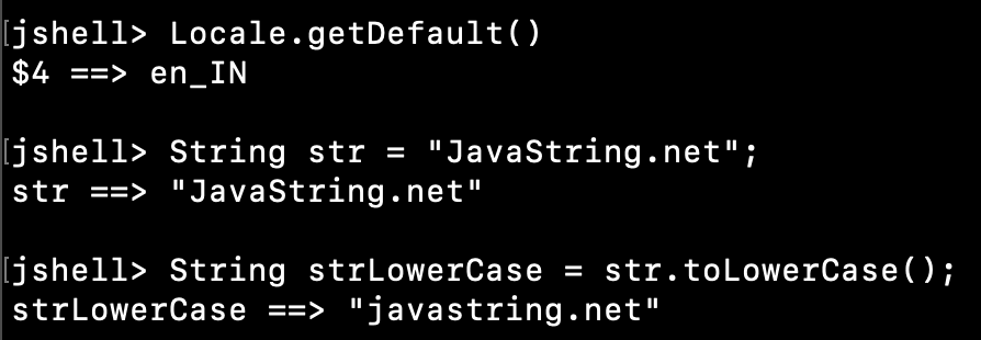 Java String ToLowerCase Example