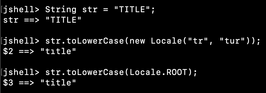 Java String toLowerCase ROOT Locale