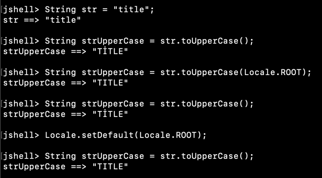 Java String ToUpperCase ROOT Locale