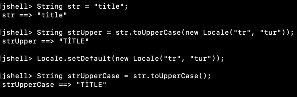 Java String ToUpperCase Locale Example