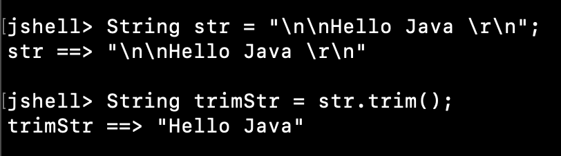 Java String Trim Newline Characters