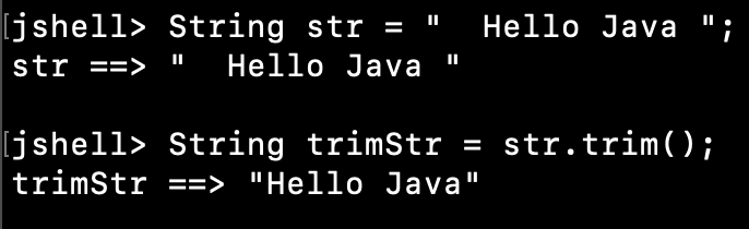 Java String Trim White Spaces