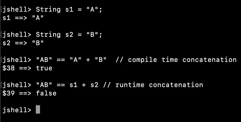 Java String Literal