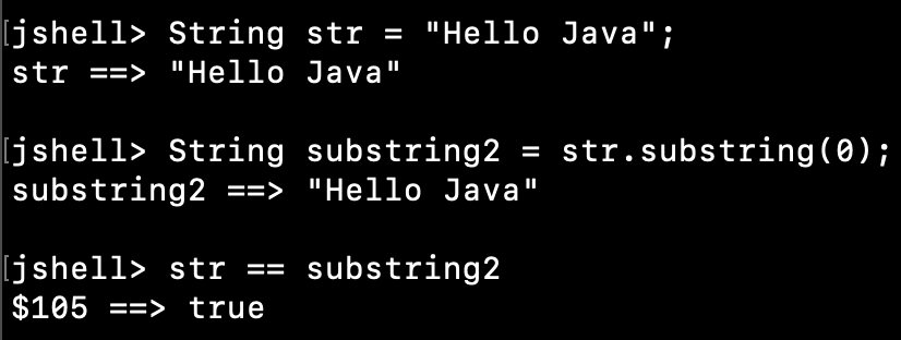 String Substring Method Example