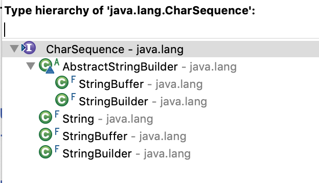 Java CharSequence Implementation Classes