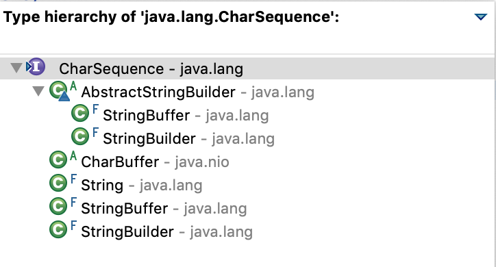 Java CharSequence Implementations