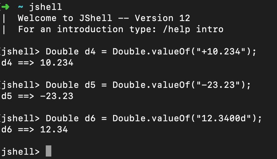 Java Double ValueOf