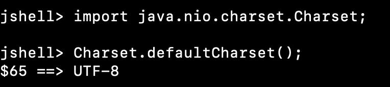 Java Default Charset
