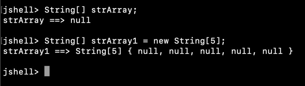 Java String Array Declaration