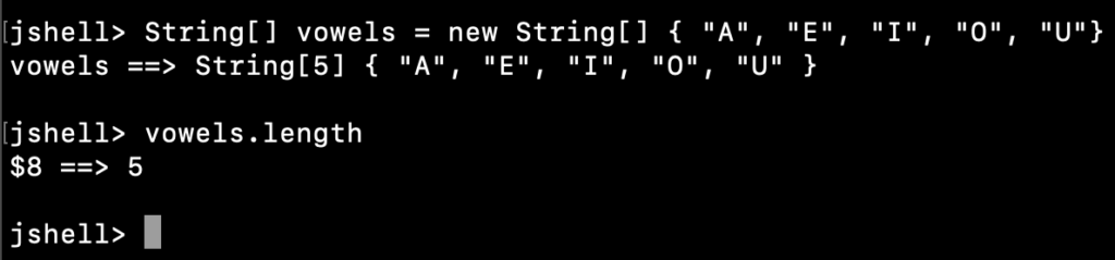 Java String Array Length