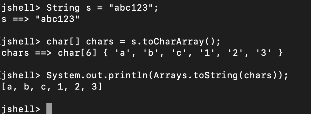 Java String To Char Array Example