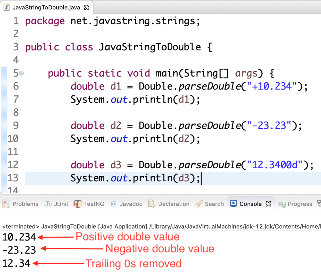 Java String To Double