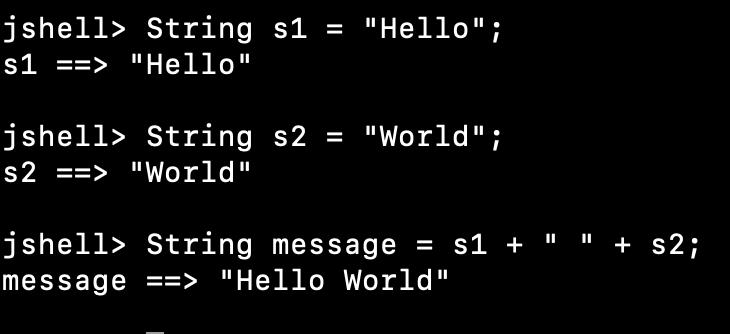 Java String Concatenation Using + Operator